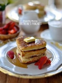 Craving > Sweet on Sugar Cookies Plus Valentine's Day Hearts Grogeous #pancakes #brunch #breakfast #butter