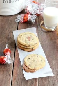 Lindor Filled Chocolate Chip Cookies