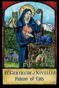 St. Gertrude of Nivelles Patron Saint of Cats