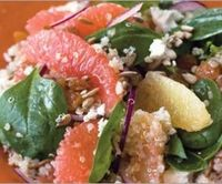 warm quinoa, grapefruit and spinach salad from SHAPE