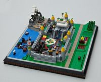 Micro castle village! Very neat, especially the docks and use of multiple layers!