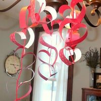 Heart craft pattern,sequence, scissors, fun