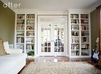 Living room with bookcases