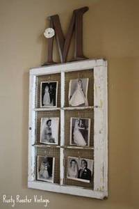 Shabby window photo display! What a good Idea! Mom this is that website I was telling you about!