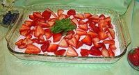 Strawberries in the Snow-Low carb!