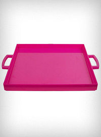 Hot Pink Lucite Tray
