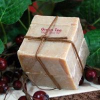 Natural Olive Oil Unscented Herbal Green Tea Soap $14.00