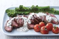KraftRecipes: this steak with creamy peppercorn sauce was delicious.