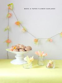 how to make a tissue paper flower garland #diy