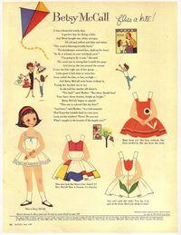 Free PDF versions of the Betsy McCall paperdolls from the 50's to 80's. Loved these as a kid!