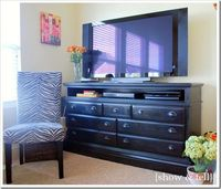 Love this TV stand from a dresser...
