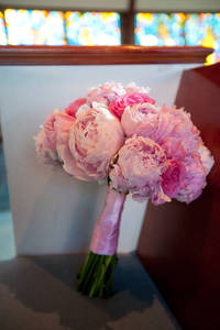 Peony and Pink Rose bouquet from brocadenashville.com