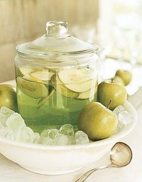 Apple martini bar - mix up a batch w/sliced apples