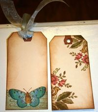 Tags I made with Butterfly Garden stamp set and Spectrum Noir markers...both available in my Etsy