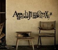 fab alphabet wall stickers