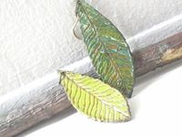 Leaf Earrings Woodland Enchanted Forest Paper by PaperMemoirs, $18.00