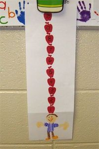 Could make a counting activity out of this for the magnet board...numbered apples with magnets on the back?