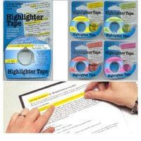 highlighter tape to help follow knitting pattern.