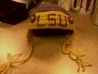 First Big Project... LSU baby cap!