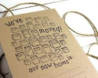 Kraft Paper Fill-In Moving Announcements