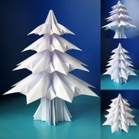 how to make an origami Christmas tree...by how about orange