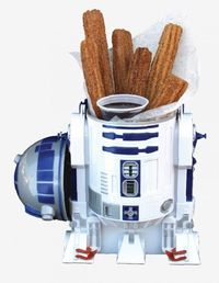 R2D2 churros--lots of Star Wars snacks at Hollywood Studios for Star Wars Weekends.