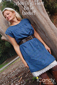 Blue dress pattern