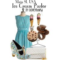 Main St. USA Ice Cream Parlor, created by lalakay on Polyvore