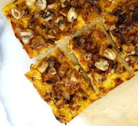 Vegan Polenta Onion Pizza