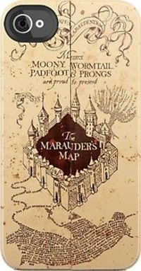 Marauder's Map iPhone case