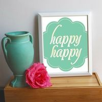 happy happy glicee print by farouche on etsy.. just makes me.. happy!