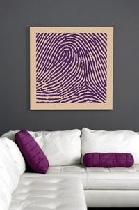 Your fingerprint as a piece of art