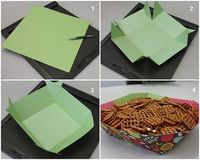 cute way to put chips out and just throw away after the party