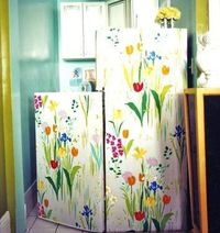 Wall Papered Fridge