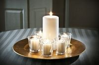 Charger, pillars and votives