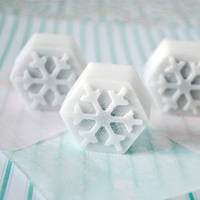 Hand-made Snowflake Soap from toriejayne.blogspot.com