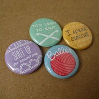 Crochet pinback buttons for all you ballers out there