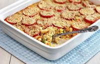 Summer Vegetable Macaroni and Cheese #recipe #macaroni #cheese