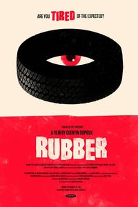 Rubber movie poster by Olly Moss