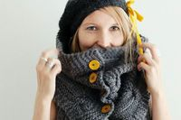 huge cowl with cute buttons