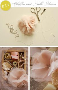 How to make tulle flowers.