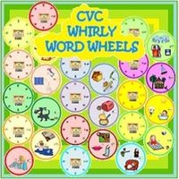 These are 13 fun CVC Whirly Word Wheels which help students to merge the beginning consonant sound to the VC ending in these one-syllable words. $6.00