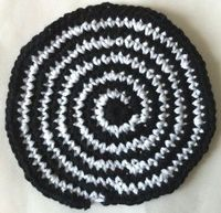 Poly Whirl Crochet Dishcloth