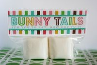 Marshmallow Bunny tails----so cute!! #food #kids #Easter
