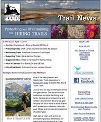 FREE email newsletter on hiking