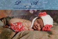 3 to 6 Month Daisy Beanie Flapper White Hot Pink by stitchwithme, $15.99