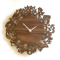 10 Modern Wall Clock Its My Forest Walnut by decoylab on Etsy