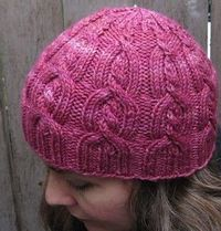 Strawberry Sundae Hat. This cable is so much fun to do!