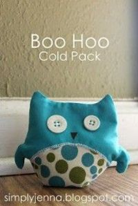 Free pattern: Boo Hoo owl cold pack