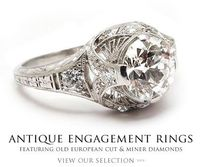 Antique engagement rings